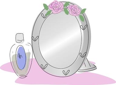 薔薇の鏡と化粧水