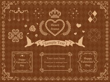 ハート バレンタインの豪華なフレーム 枠