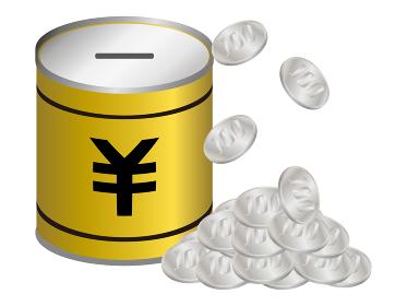 日本の百円硬貨の貯金箱