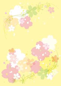 桜 ふわふわ背景