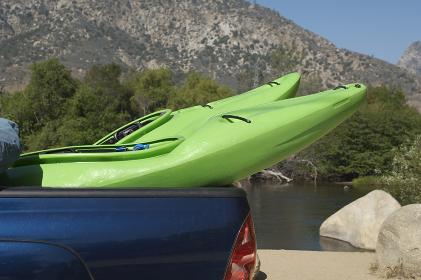 Kayaks In Pick-Up Truck