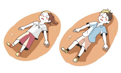 熱中症で倒れる(屋外)
