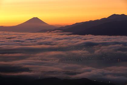 高ボッチから見た富士山