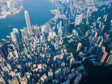 Victoria Peak, Hong Kong 3 November 2017:- Hong Kong landmark