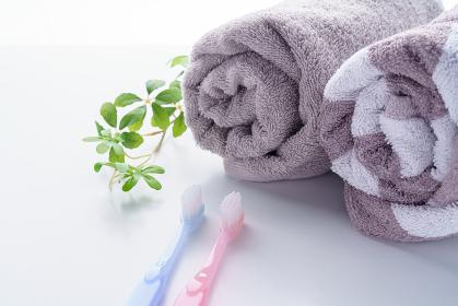 歯ブラシとタオル