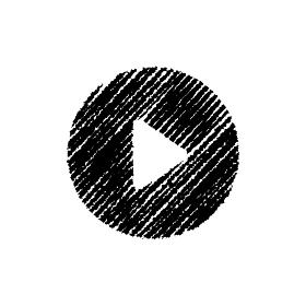 チョークで描いたような図形/アイコン(再生ボタン)