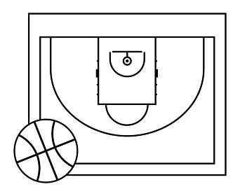 バスケットボールコート(3x3)