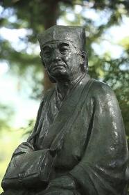 奥の細道 立石寺の芭蕉像