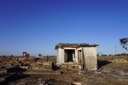 震災遺構 仙台市荒浜地区住宅基礎、宮城仙台市若林区