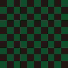 市松模様 黒×緑 L 1