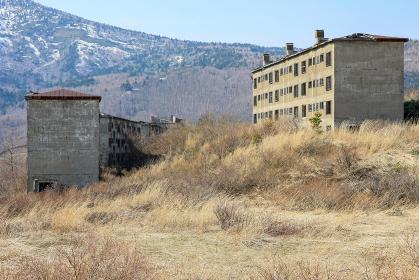 松尾鉱山跡地の緑ヶ丘アパート群(八幡平市・岩手)
