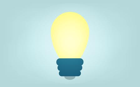 アイデアが浮かんだような電球のイメージイラ