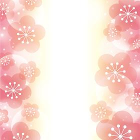 【背景画像素材】キラキラ光る梅の背景【お正月・年賀状・節分・春のイメージに】
