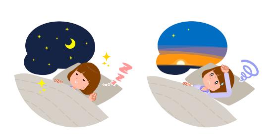 flat type Straight bangs women_lack-of-sleep