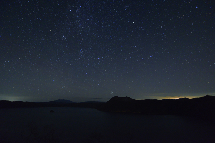 摩周湖と星空