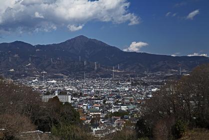 中央:大山 左:岳ノ台(秦野市)