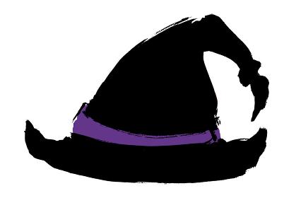 手描きイラスト素材 ハロウィン 魔女の帽子