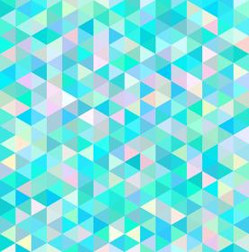 モザイク 三角 水色