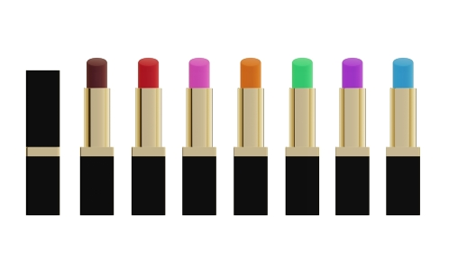 七色の口紅 3DCG コスメティックス 美容 メイクアップ アイテム