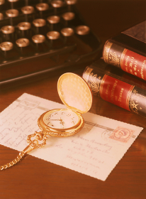 懐中時計とタイプライター