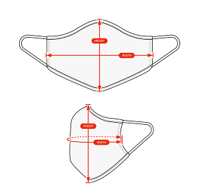 アパレル・ファッションコンテンツ用 サイズ表 ベクターイラスト / マスク