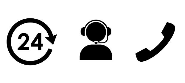 ビジネスアイコン 24時間コールセンターやコミュニケーション