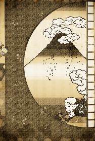 甲州三嶌越&真崎邊より水神の森内川関屋の里を見る圖 vintage