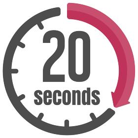 秒 / 時間・タイマー・ストップウォッチ アイコン (20秒)