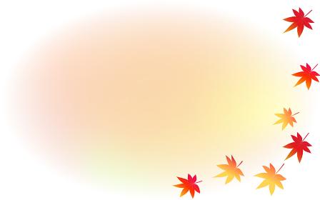 秋の紅葉とグラデーションのコピースペース