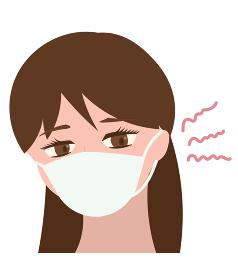 マスクで耳が痛くなった女の人