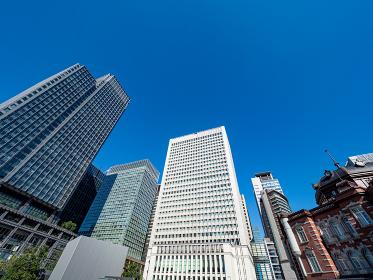 東京 丸の内の町並み 都市風景