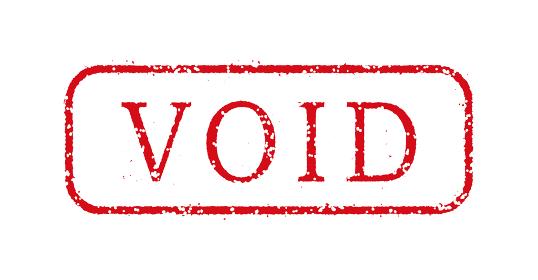 ビジネス用スタンプ イラスト/VOID (拒否)