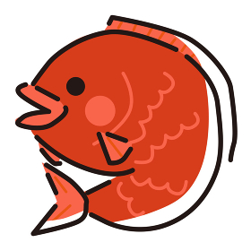 日本文化素材 / 縁起物鯛