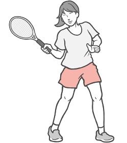 テニス 若い女性 女性