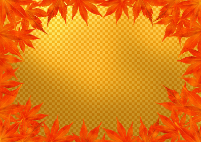 赤い紅葉のフレーム 金市松