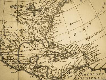 古地図 アメリカと中米