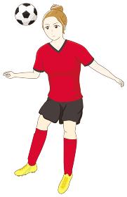サッカーをする女性09