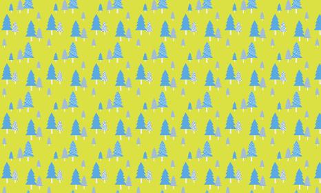 北欧パターン「青色の木柄」