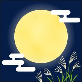 十五夜_満月のフレーム