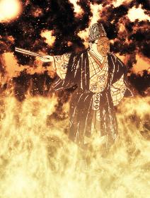 浮世絵 日本舞踊 その2 炎バージョン