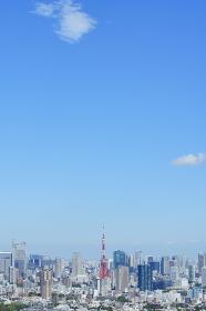 東京タワー周辺の空撮写真