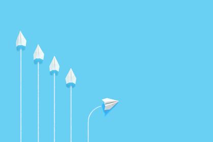 1機だけルートを変える紙飛行機 6