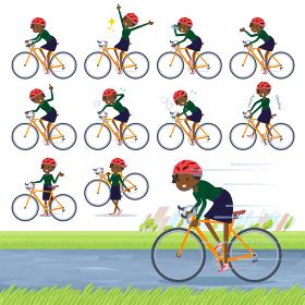 flat type business black women_road bike