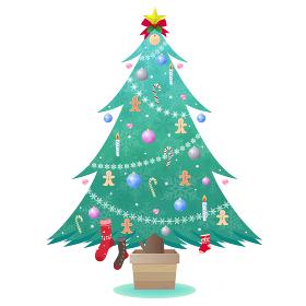 クッキーを飾ったクリスマスツリー