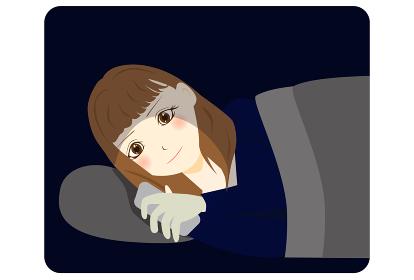 寝る前にスマートフォンを見る 女性