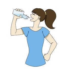 水分補給 コップ 女性