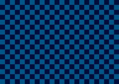 和紙 市松背景模様 紺色×黒