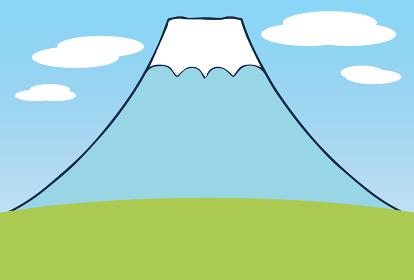 シンプルな富士山の風景