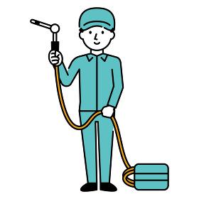 エアコンの清掃員