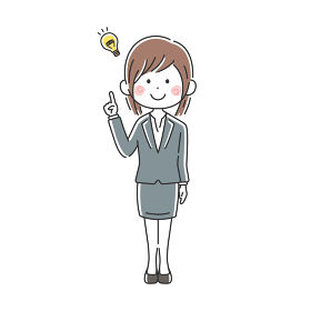 提案する日本人ビジネスウーマンのイラスト